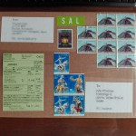 郵便局のSALシールの貼り方