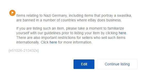 eBayで一部の国では出品できない...
